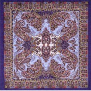 Wool Shawl with Silk fringe